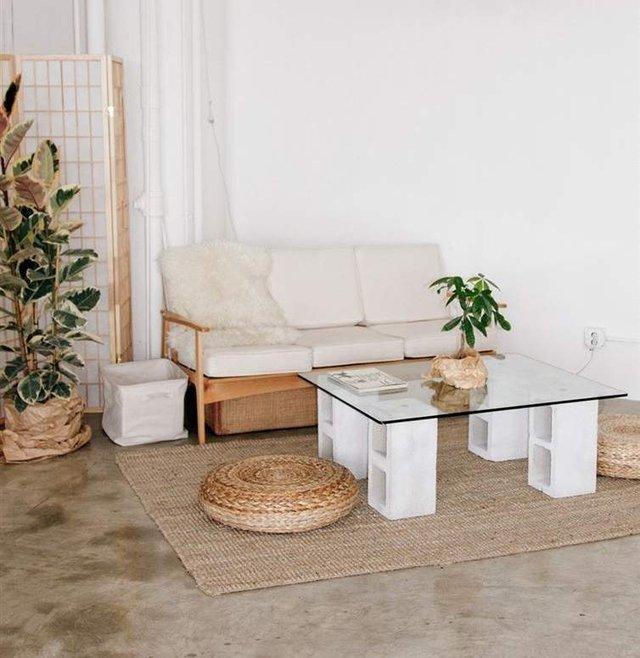 Меблі зі звичайного шлакоблоку: дешеві ідеї - фото 299813