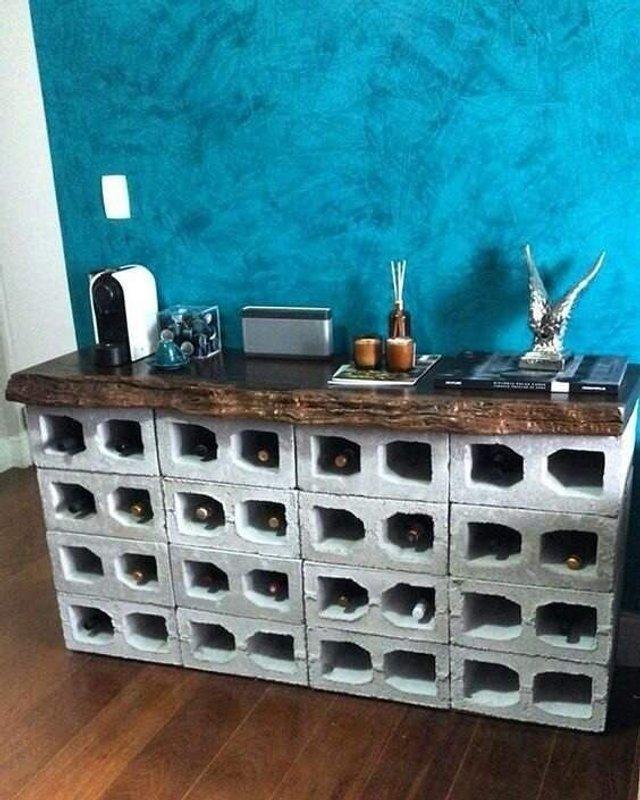 Меблі зі звичайного шлакоблоку: дешеві ідеї - фото 299814