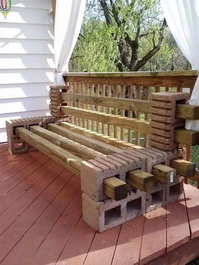 Меблі зі звичайного шлакоблоку: дешеві ідеї - фото 299817