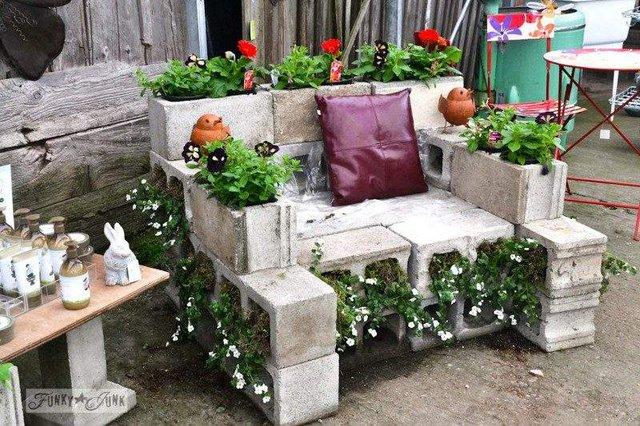 Меблі зі звичайного шлакоблоку: дешеві ідеї - фото 299819