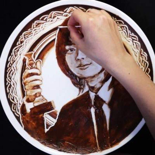 Як виглядають картини, намальовані шоколадом - фото 299872