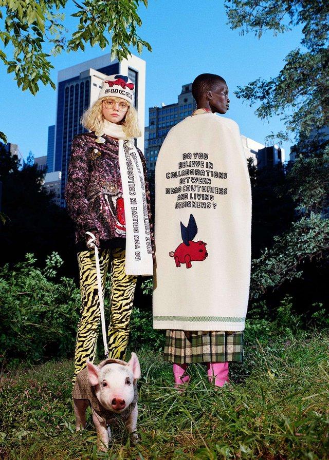 Маленькі свинки стали героями кампейну Gucci - фото 300338