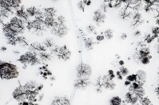 Засніжений Будапешт з висоти пташиного польоту: атмосферні фото - фото 300663