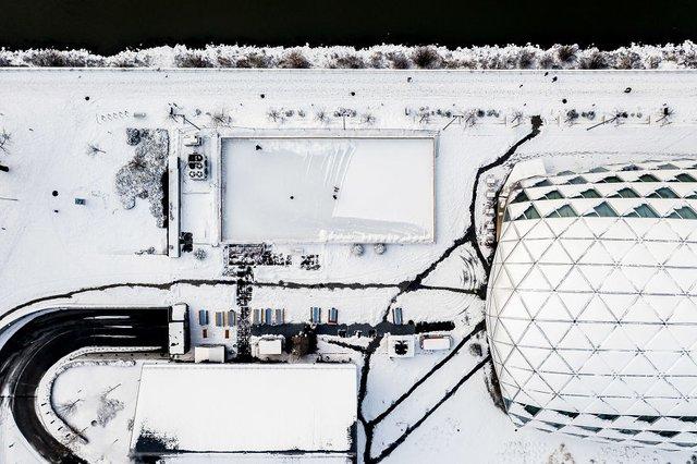 Засніжений Будапешт з висоти пташиного польоту: атмосферні фото - фото 300664