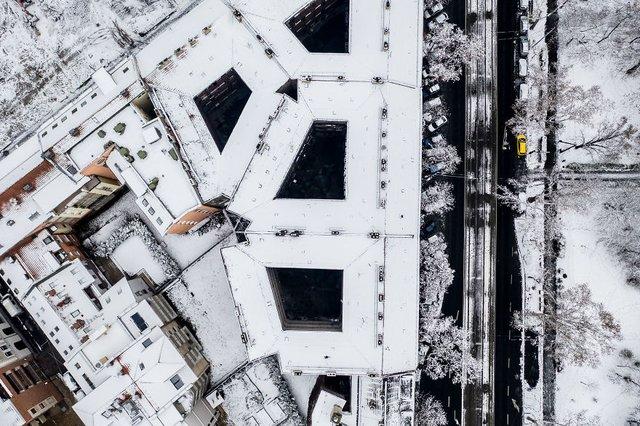 Засніжений Будапешт з висоти пташиного польоту: атмосферні фото - фото 300665