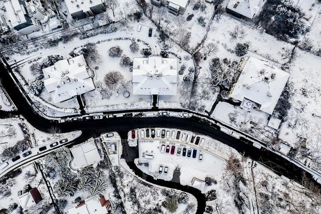 Засніжений Будапешт з висоти пташиного польоту: атмосферні фото - фото 300666