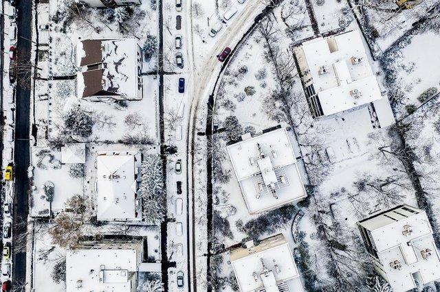 Засніжений Будапешт з висоти пташиного польоту: атмосферні фото - фото 300668