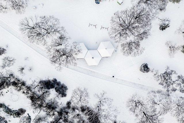 Засніжений Будапешт з висоти пташиного польоту: атмосферні фото - фото 300670