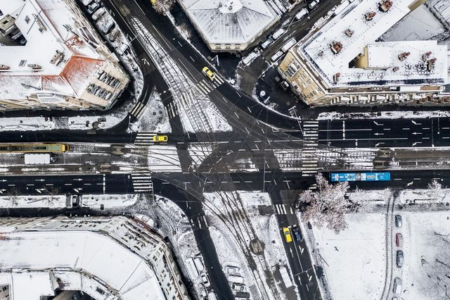Засніжений Будапешт з висоти пташиного польоту: атмосферні фото - фото 300671