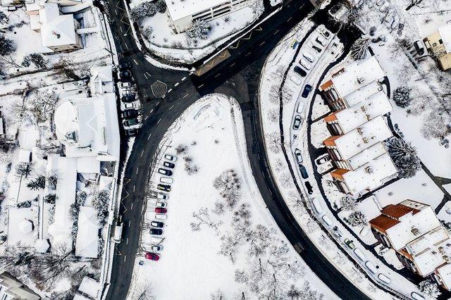 Засніжений Будапешт з висоти пташиного польоту: атмосферні фото - фото 300672