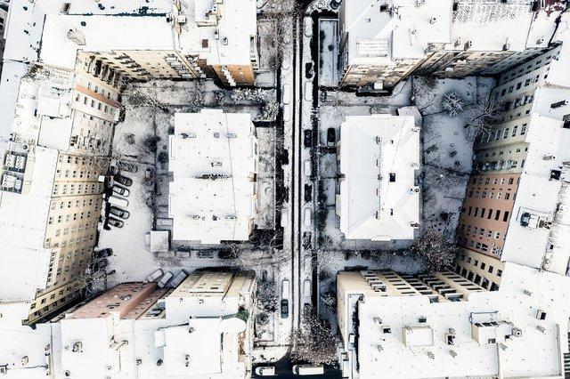 Засніжений Будапешт з висоти пташиного польоту: атмосферні фото - фото 300673