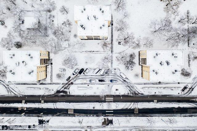 Засніжений Будапешт з висоти пташиного польоту: атмосферні фото - фото 300676