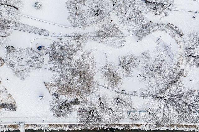 Засніжений Будапешт з висоти пташиного польоту: атмосферні фото - фото 300677