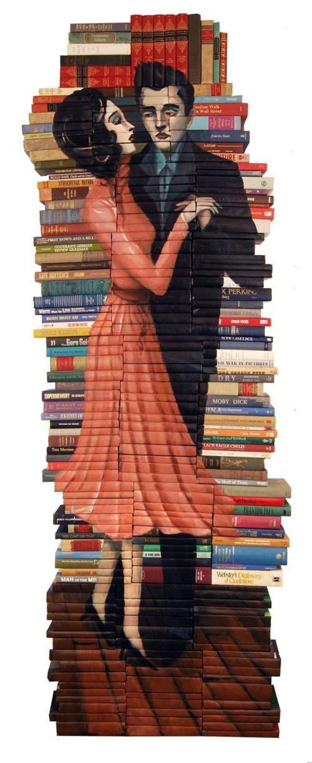 Старі книги перетворили на оригінальні скульптури: крута ідея - фото 303990