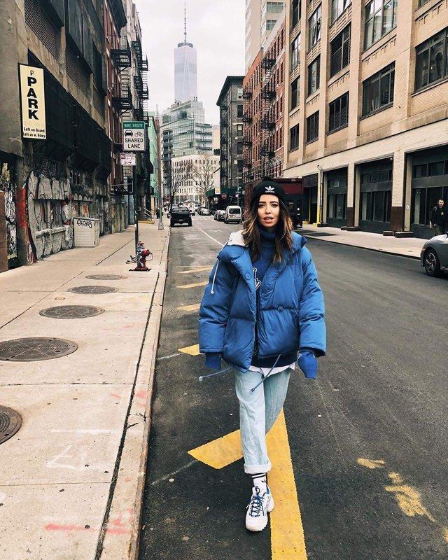 Надя Дорофєєва підкорила Нью-Йорк сміливим образом - фото 306108