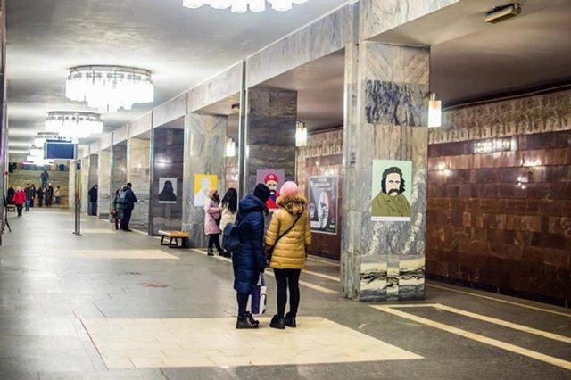 У київській підземці з'явилися незвичайні портрети Шевченка - фото 306818