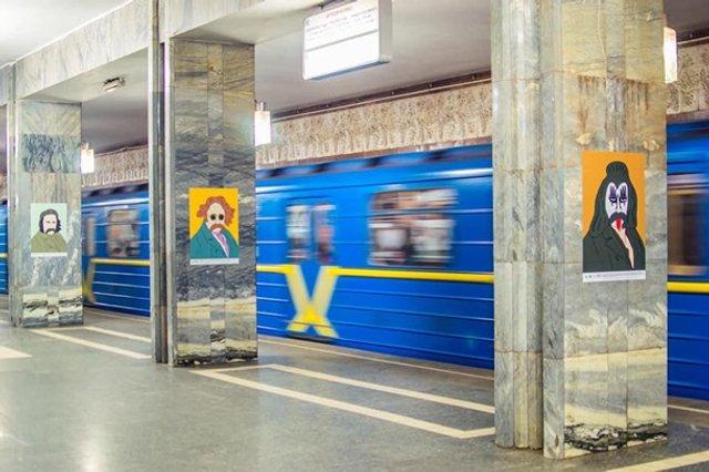 У київській підземці з'явилися незвичайні портрети Шевченка - фото 306820