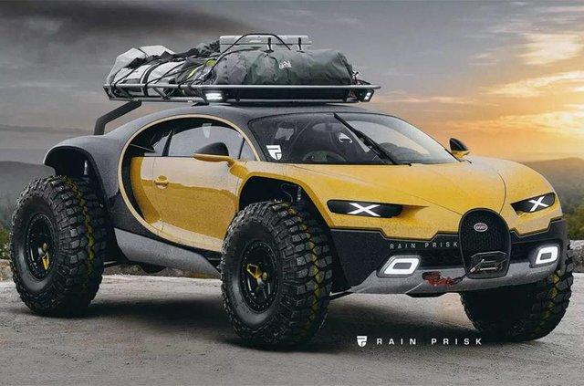 Так би виглядав Bugatti Chiron у формі позашляховика - фото 306985
