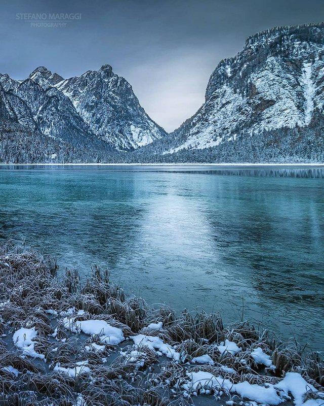 Відпочинок для душі: як виглядають взимку Доломітові Альпи - фото 307911