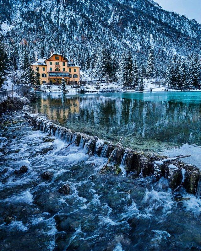 Відпочинок для душі: як виглядають взимку Доломітові Альпи - фото 307915