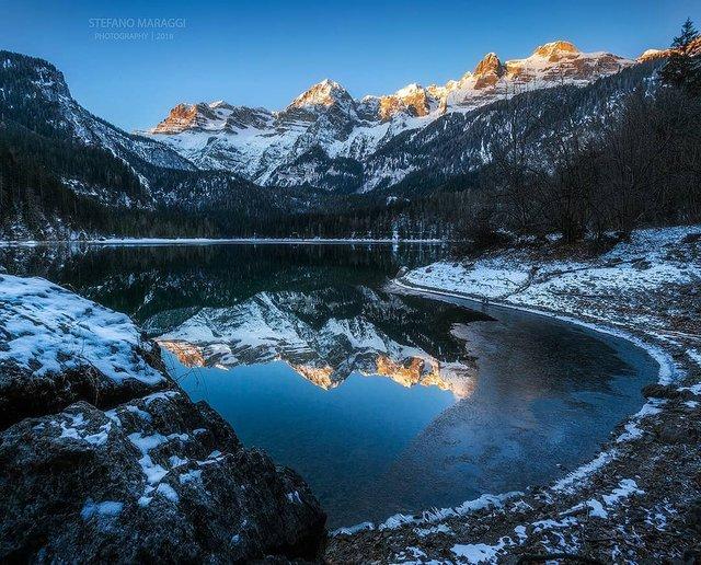 Відпочинок для душі: як виглядають взимку Доломітові Альпи - фото 307917