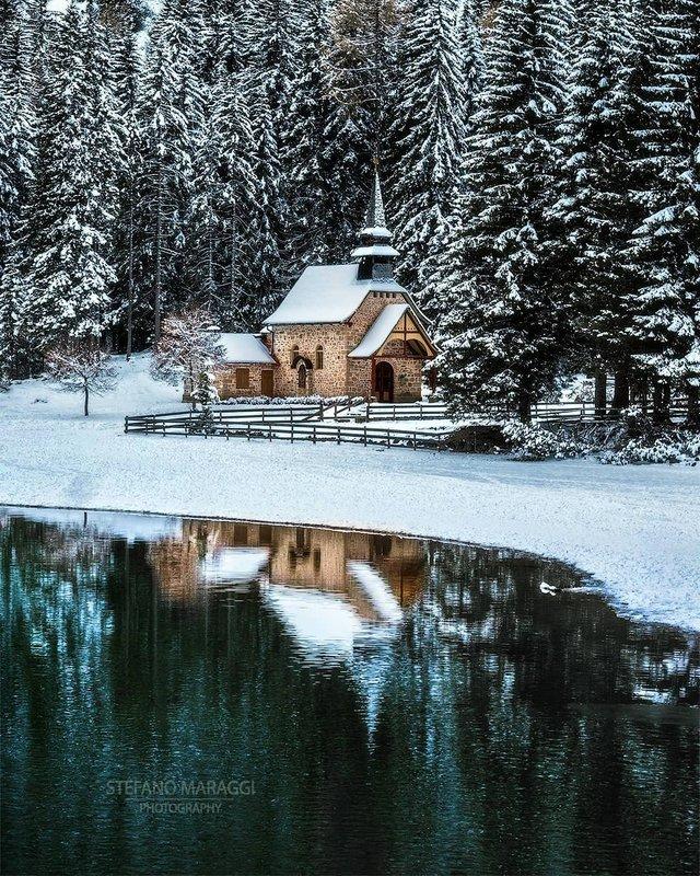 Відпочинок для душі: як виглядають взимку Доломітові Альпи - фото 307920