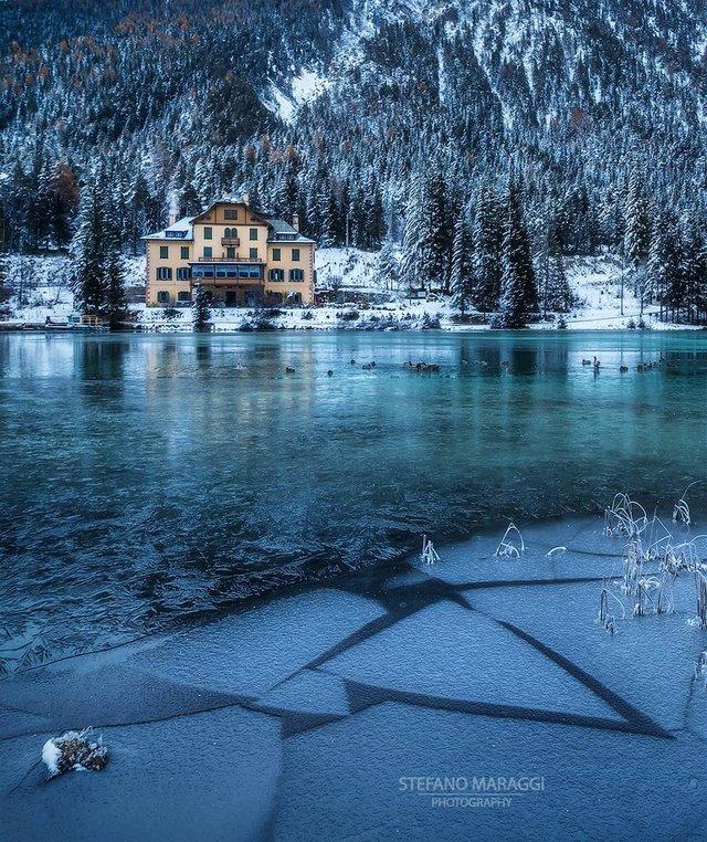 Відпочинок для душі: як виглядають взимку Доломітові Альпи - фото 307921
