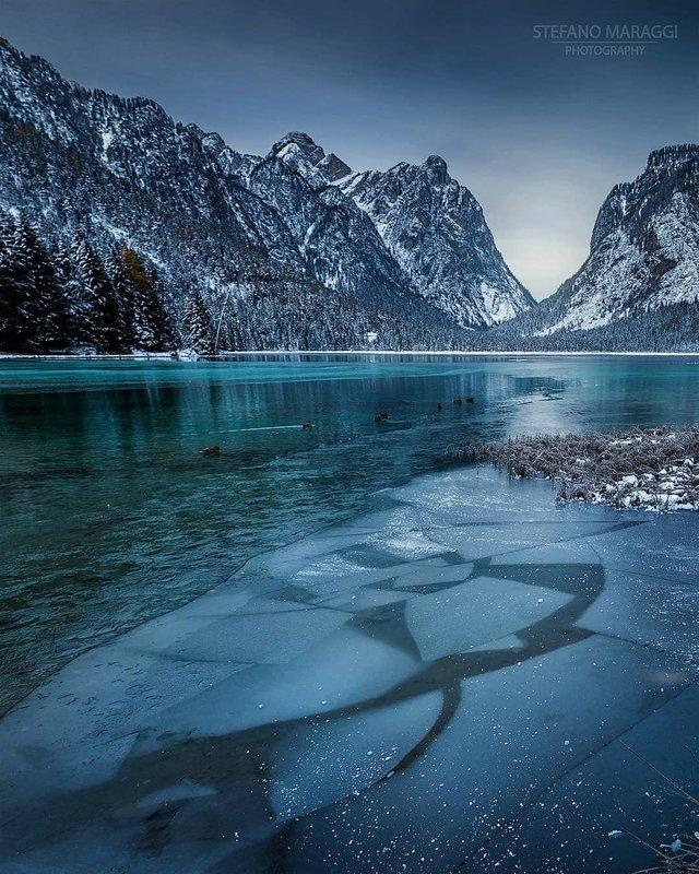 Відпочинок для душі: як виглядають взимку Доломітові Альпи - фото 307923