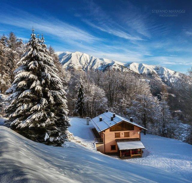 Відпочинок для душі: як виглядають взимку Доломітові Альпи - фото 307925