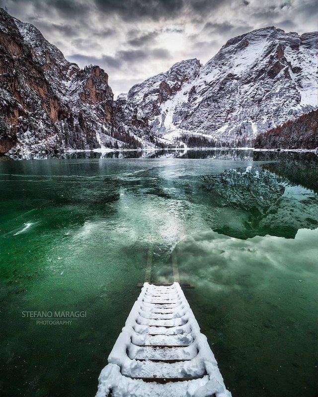 Відпочинок для душі: як виглядають взимку Доломітові Альпи - фото 307927