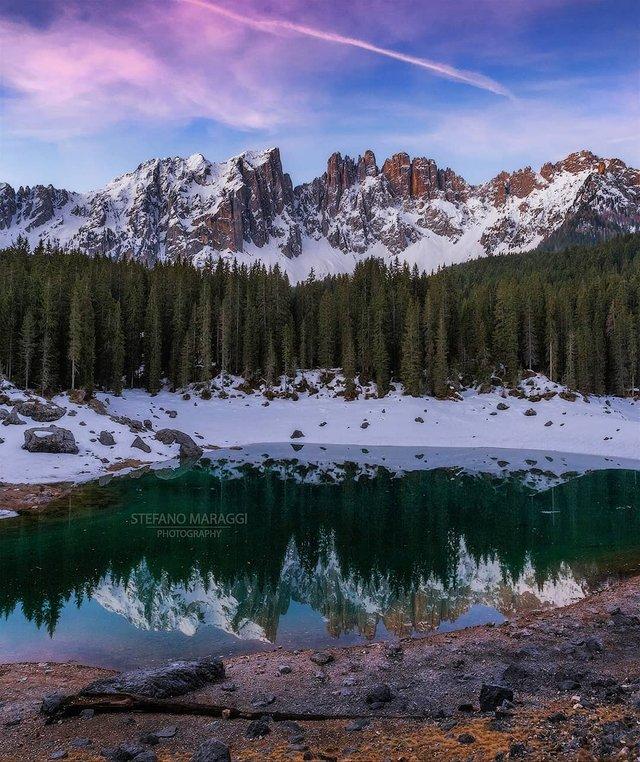 Відпочинок для душі: як виглядають взимку Доломітові Альпи - фото 307928