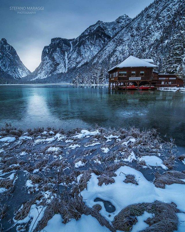Відпочинок для душі: як виглядають взимку Доломітові Альпи - фото 307929