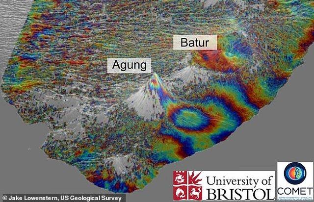 Супутникові знімки показали 'підземелля' вулканів Балі - фото 308076