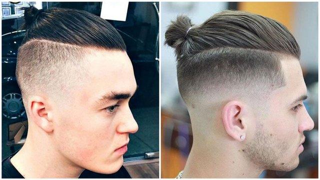 Чоловічі зачіски з пучком - фото 309133