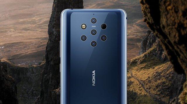 Смартфон з п'ятьма камерами Nokia 9 PureView - фото 309711