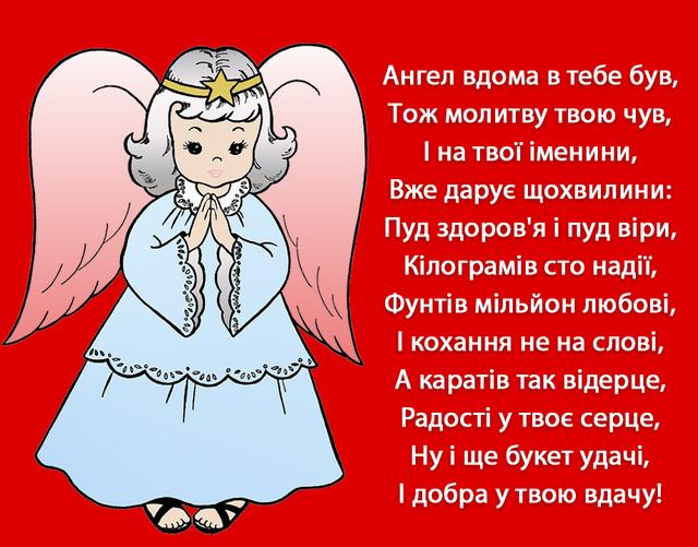 Вітання з днем ангела - фото 315473