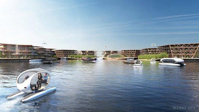 Як би виглядало сучасне місто на воді: бачення архітекторів - фото 319157