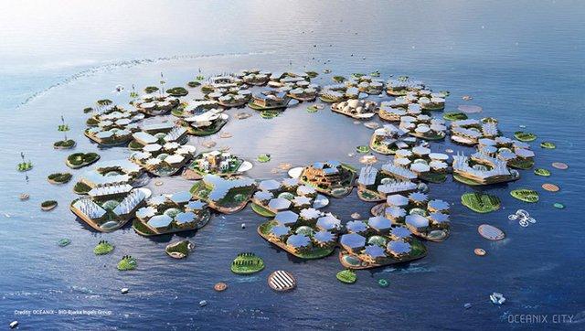 Як би виглядало сучасне місто на воді: бачення архітекторів - фото 319158