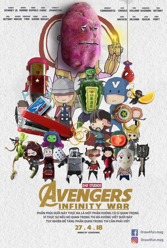 Художник створює кумедні постери з супергероями Marvel з підручних засобів - фото 321559