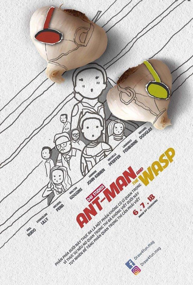 Художник створює кумедні постери з супергероями Marvel з підручних засобів - фото 321561
