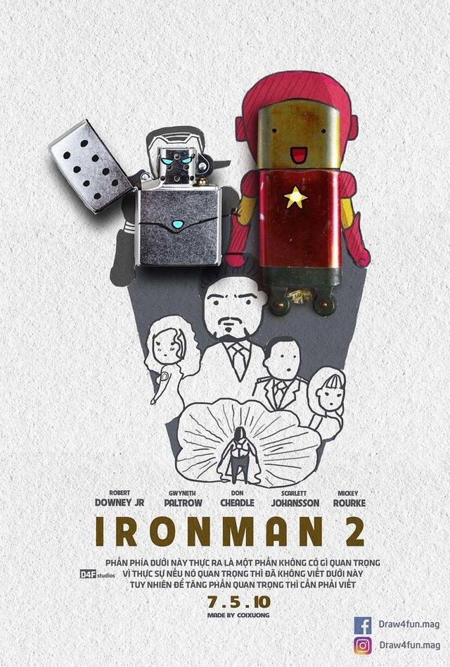 Художник створює кумедні постери з супергероями Marvel з підручних засобів - фото 321563