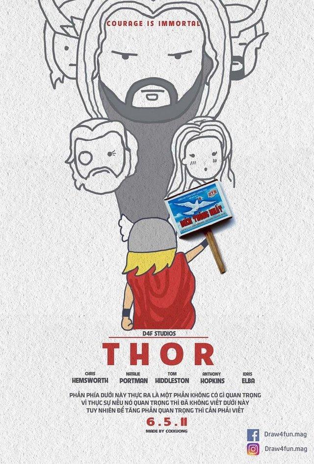 Художник створює кумедні постери з супергероями Marvel з підручних засобів - фото 321564