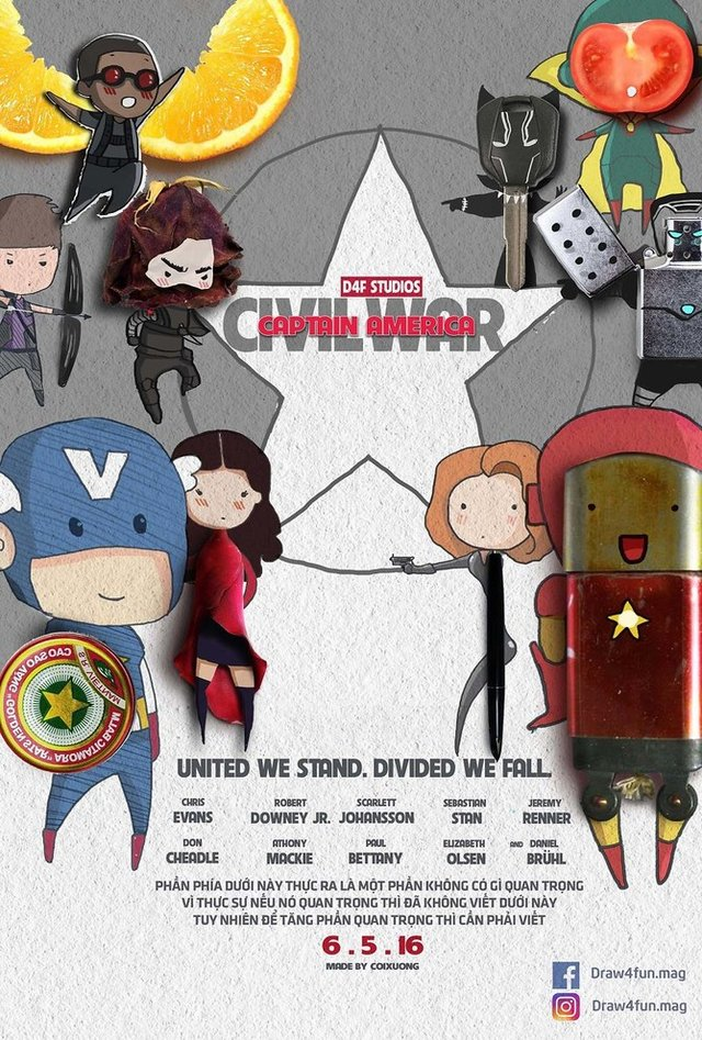Художник створює кумедні постери з супергероями Marvel з підручних засобів - фото 321565