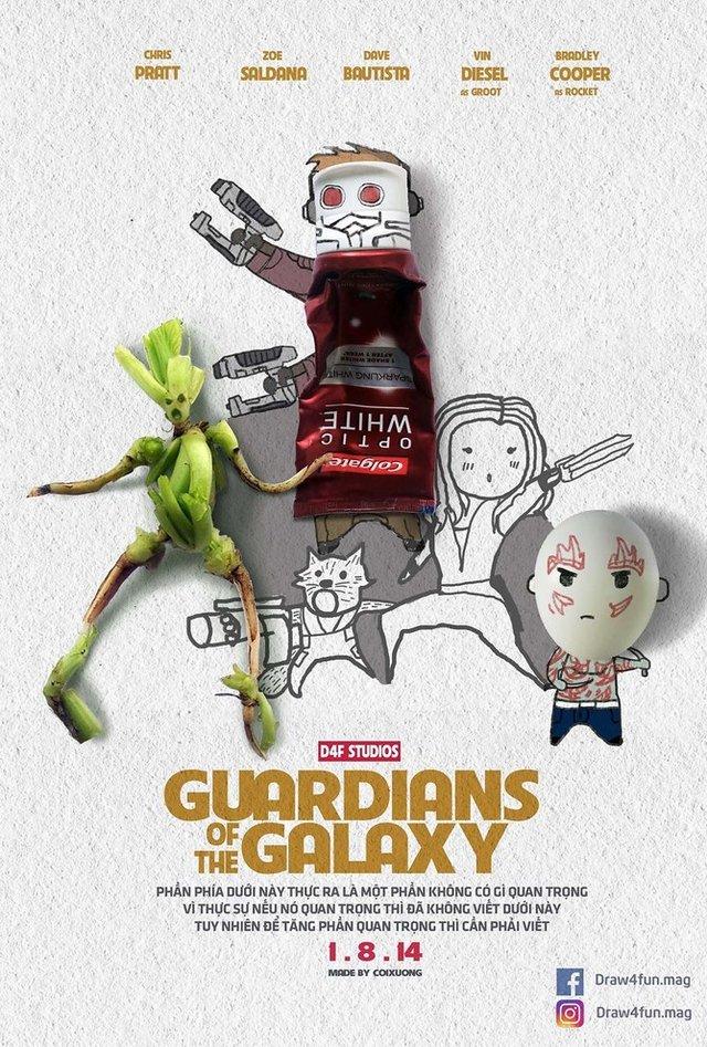 Художник створює кумедні постери з супергероями Marvel з підручних засобів - фото 321567