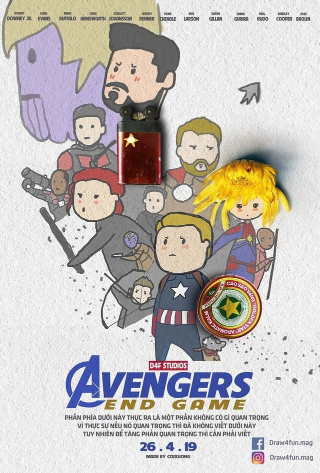 Художник створює кумедні постери з супергероями Marvel з підручних засобів - фото 321568