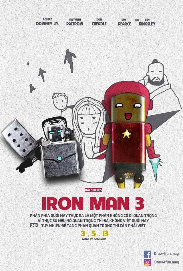 Художник створює кумедні постери з супергероями Marvel з підручних засобів - фото 321570