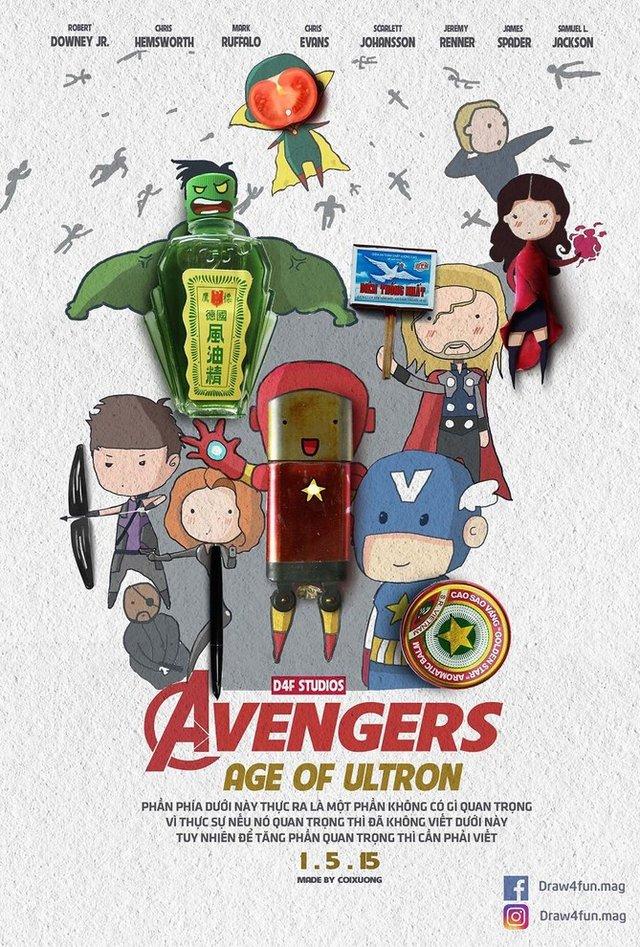 Художник створює кумедні постери з супергероями Marvel з підручних засобів - фото 321574