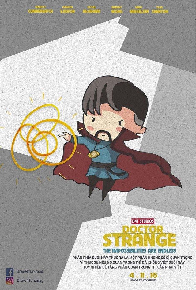 Художник створює кумедні постери з супергероями Marvel з підручних засобів - фото 321576