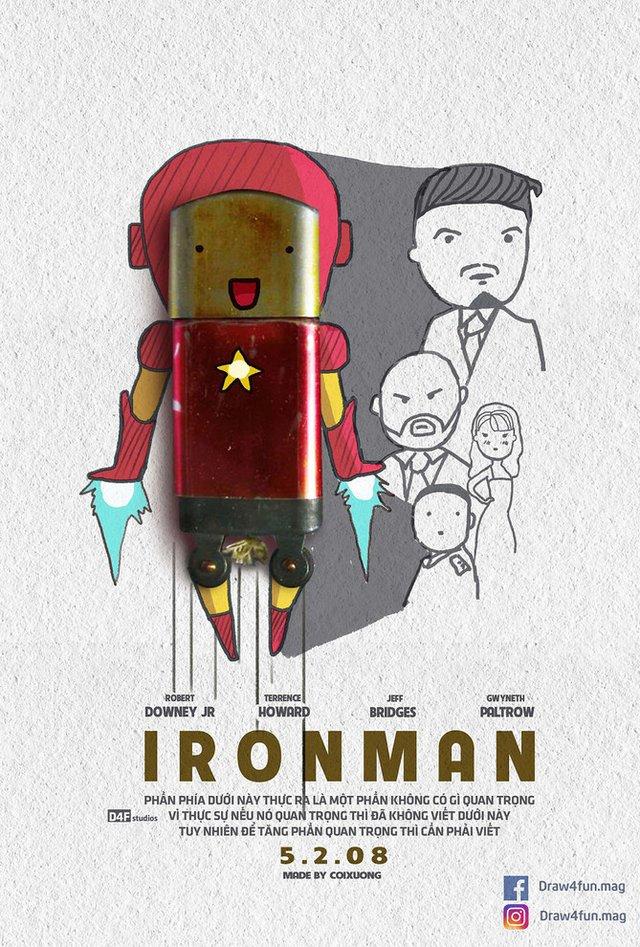Художник створює кумедні постери з супергероями Marvel з підручних засобів - фото 321578