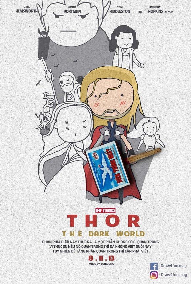 Художник створює кумедні постери з супергероями Marvel з підручних засобів - фото 321579